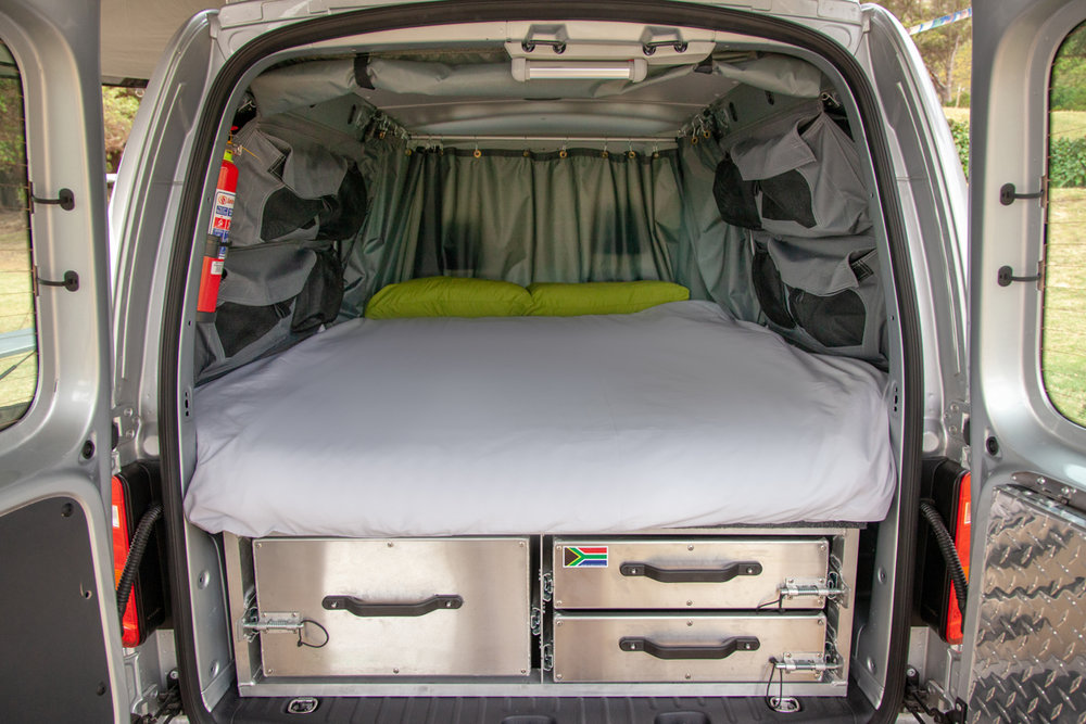 Rear-accessed storage system.