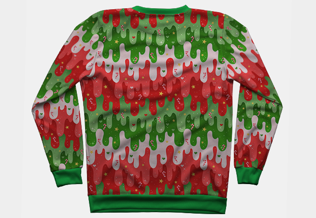 Ugly Christmas Sweater Runner Up - My Christmas Slime design was a runner up in the DesignByHumans Ugly Sweater contest! You can purchase it here.