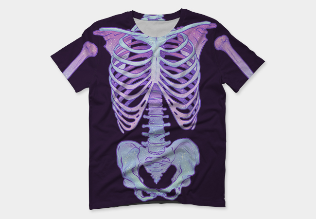 ALl over costume tee 3rd place - My Skeleton Cutie design won 3rd place in the DesignByHumans All Over Costume Tee Contest! You can purchase it here.