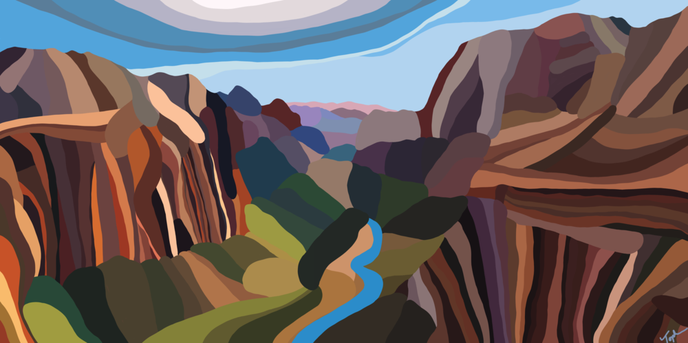 Zion National Park  UTAH, USA  30X60 inches