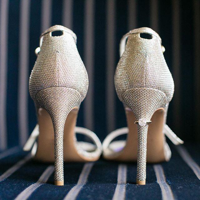 Sparkly shoes 4-eva 💍👠 . . . #bostonwedding #bostonweddingphotographer #shoes #weddingshoes #weddingrings