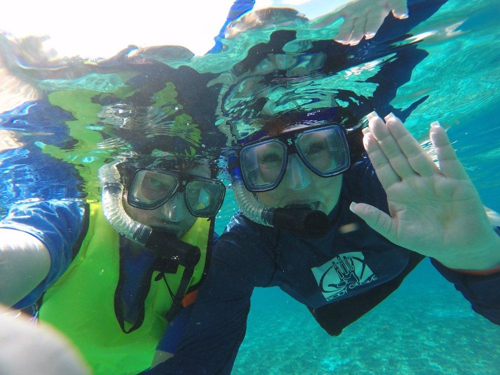 06 - Scott and Patrice snorkeling off Cozumel.jpg