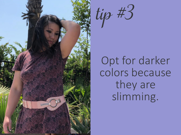 Darker clothes have been known to be slimming.  Try black, dark grey, browns, navy or even dark purple.  You'll notice a difference right away.