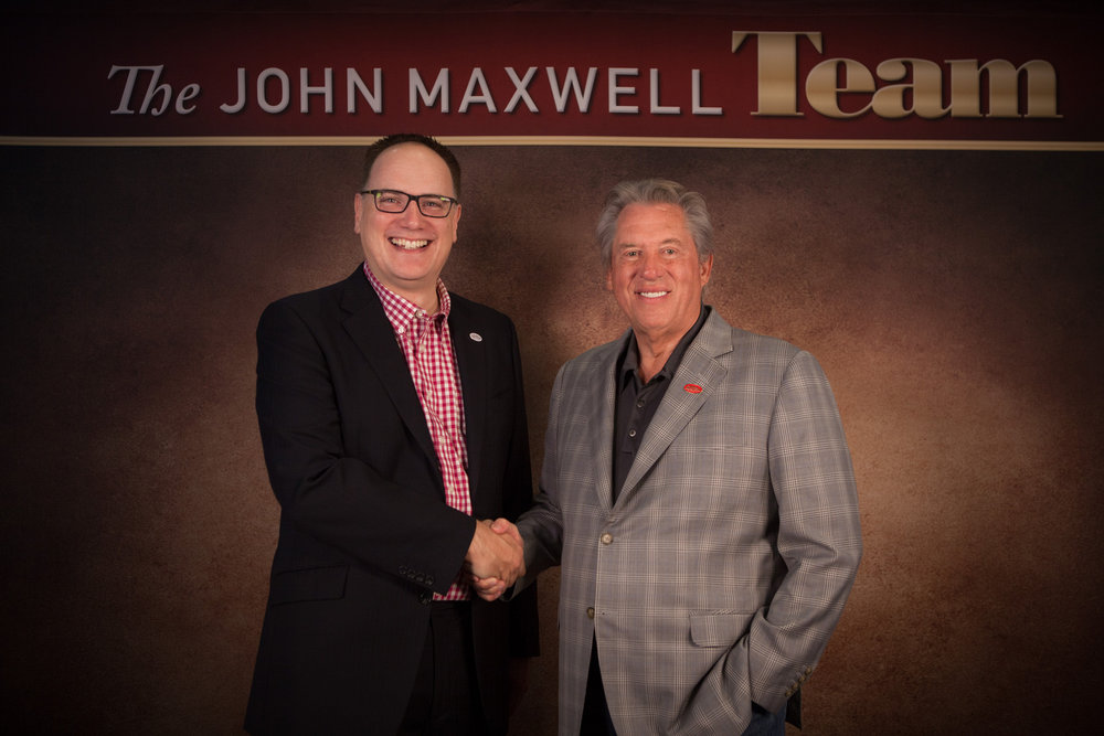 - Mark and bestselling author and speaker John C Maxwell