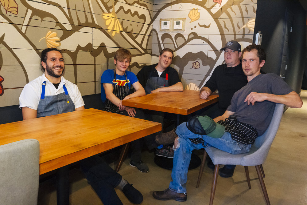 (Left ro right): Michael Qandah, Logan Guleff, Zach Nicholson, Nate Oliva, and Patrick Hanthorn.
