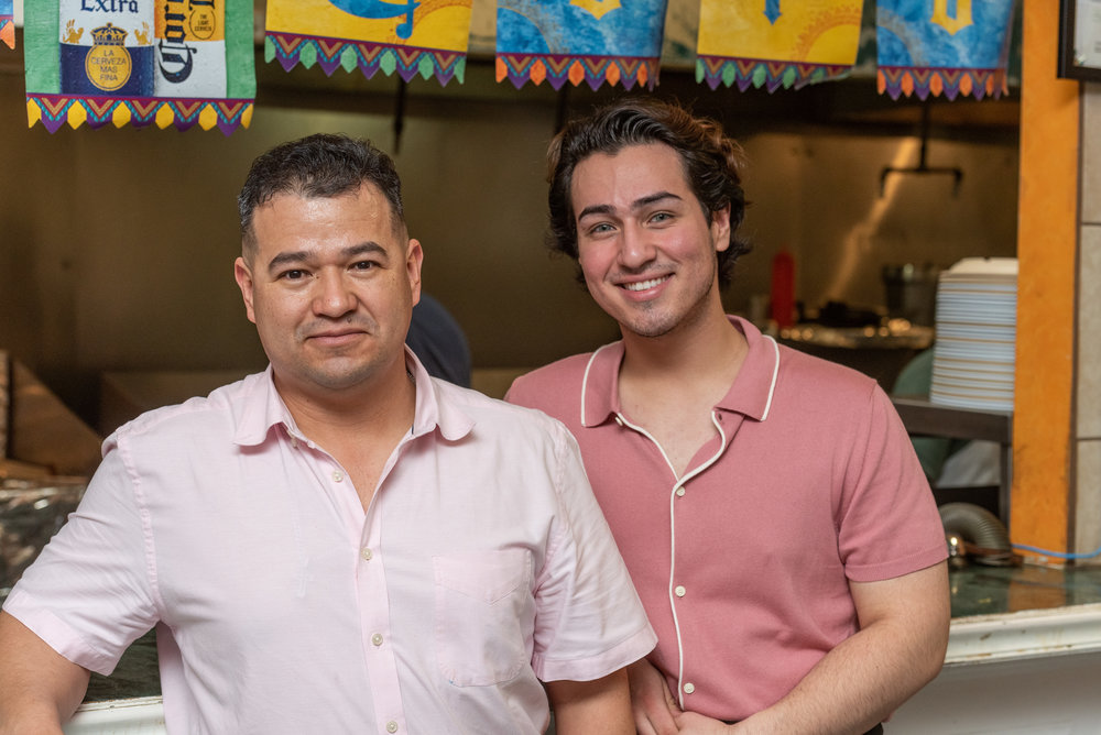 Photography by Chip Chockley. On the left: Juan Castelan, owner.