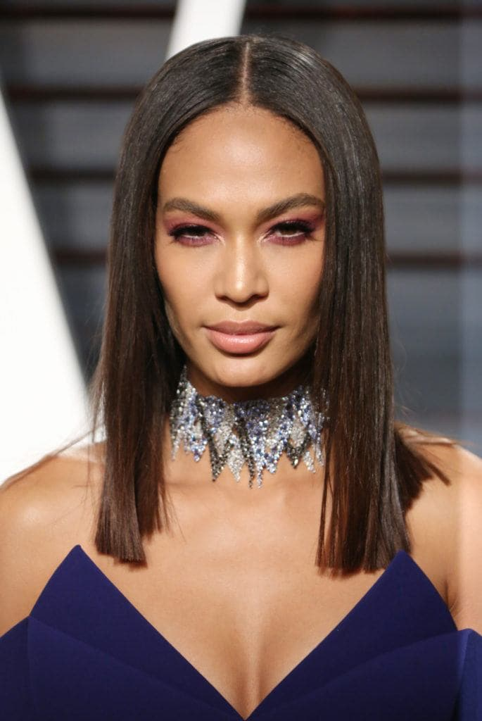 Joan Smalls and her sleek, pin-straight hair.