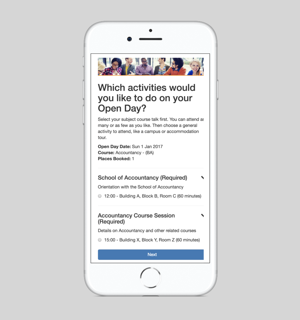 Complex open days made simple - Increase your open day bookings, attendance rate and on-campus engagement. The more complex the better, because we have the most advanced features available.