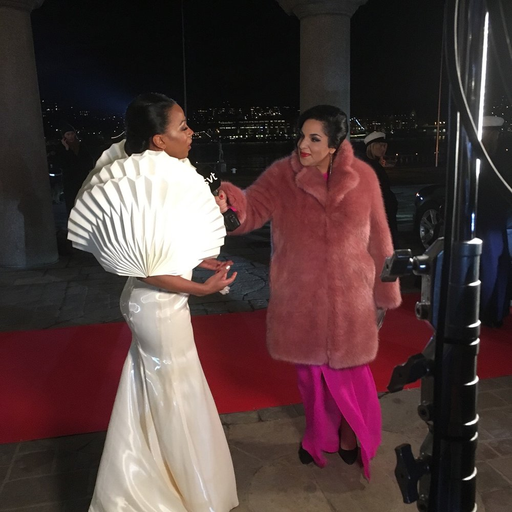 Livesändning, Nobelpriset 2017. Jag intervjuade kulturminister Alice Bah Kuhnke om hennes omtalade klänning.