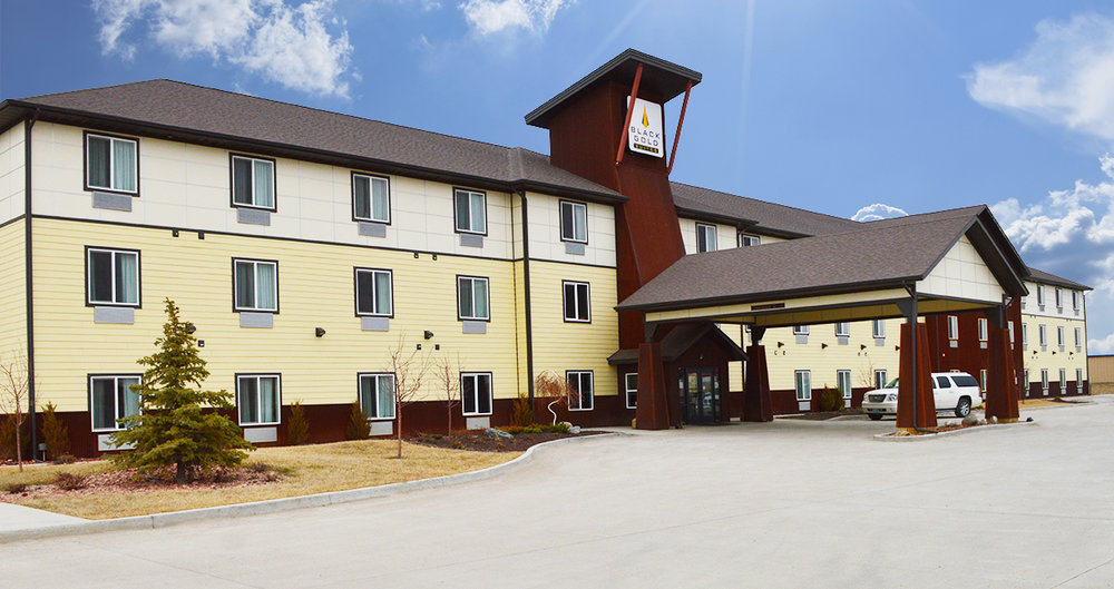 Black Gold Suites Hotel exterior, tioga, ND