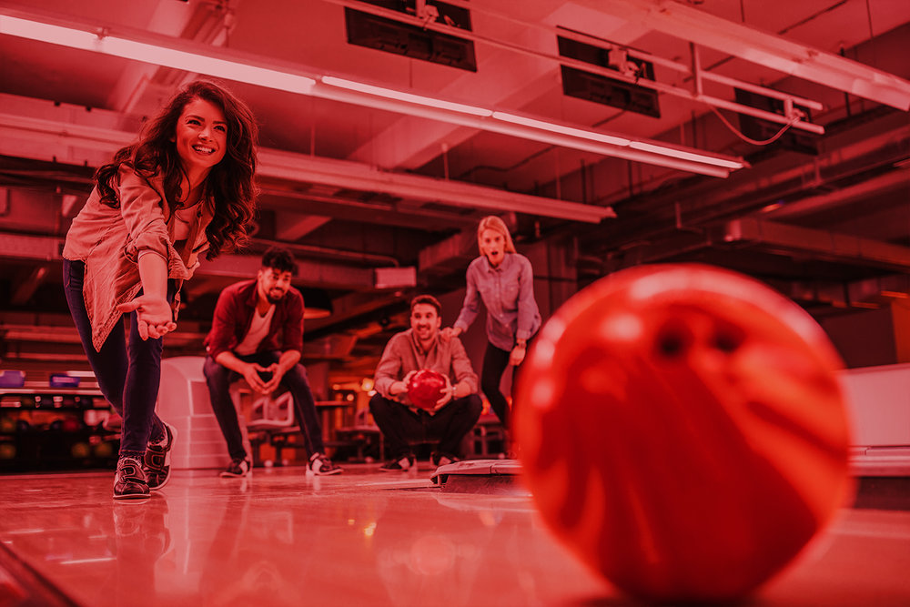 BOWLING   Featuring  ten  state of the art Brunswick lanes including  four  lanes in the VIP/private event area.