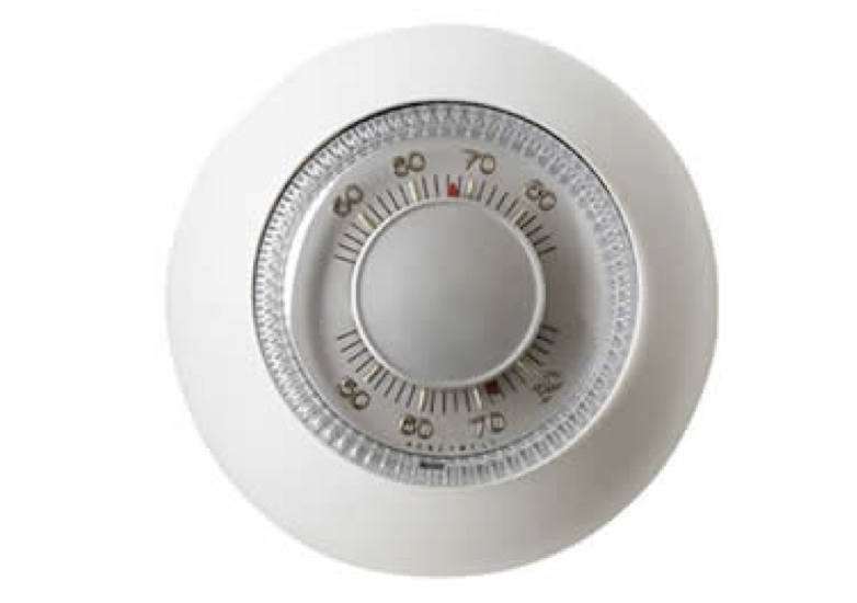 A thermostat creates negative feedback between the room temperature and whether the furnace is on or off.