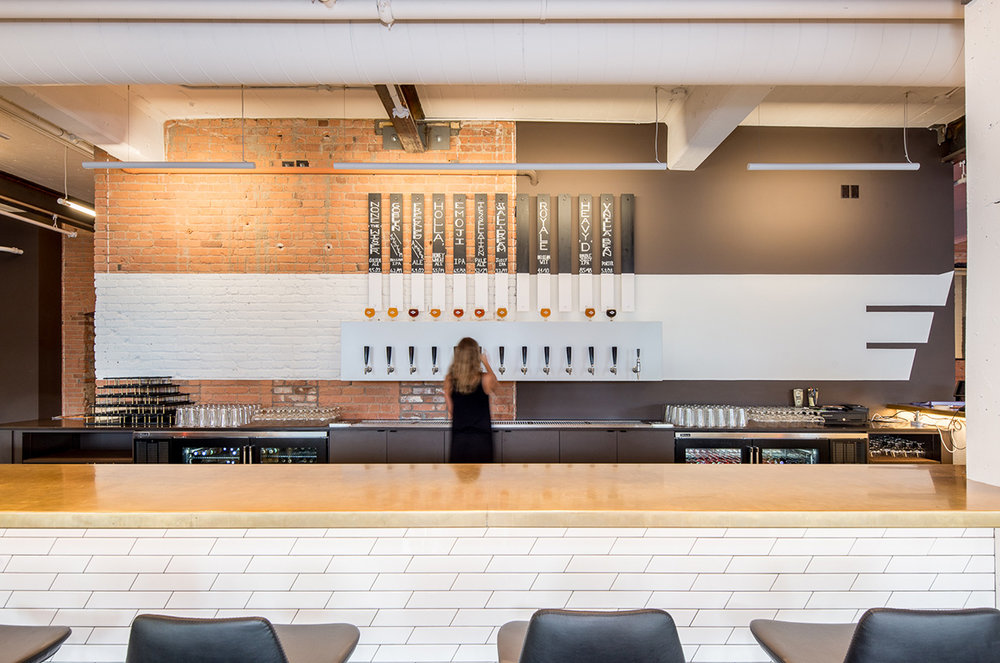 Renovation of historic building for brewery and taproom in Minneapolis by Christian Dean Architecture.