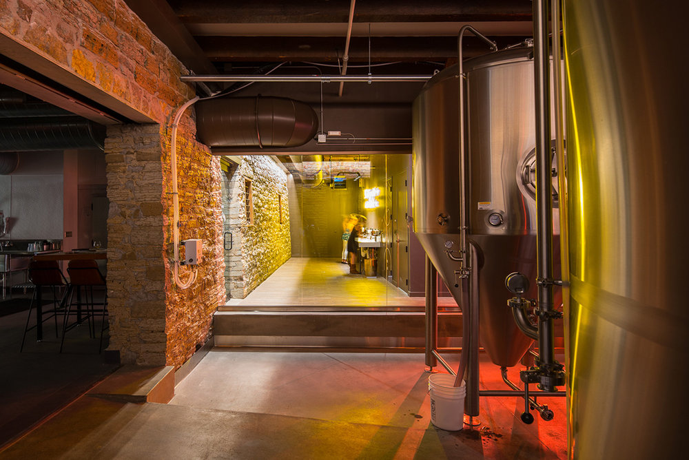 Brewery remodel in historic building in Minneapolis by Christian Dean Architecture.