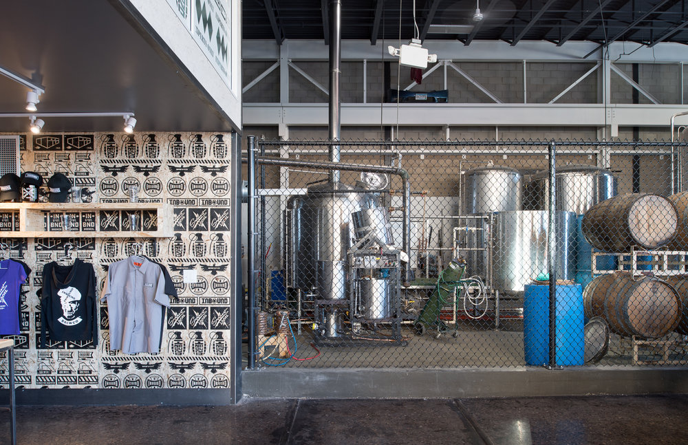 Inbound BrewCo remodeled modern industrial space in Minneapolis by Christian Dean Architecture.