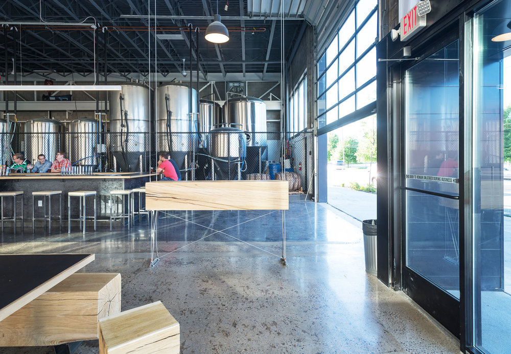 Modern brewery remodel in North Loop neighborhood of Minneapolis by Christian Dean Architecture.