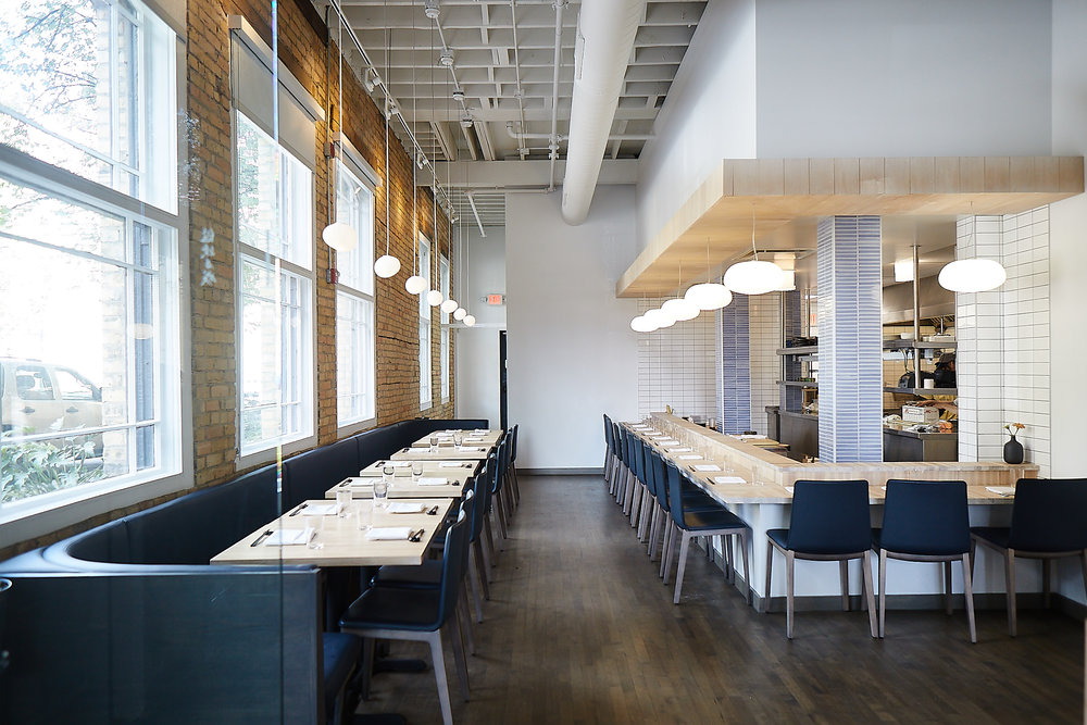 modern japanese restaurant remodel in minneapolis by christian dean architecture