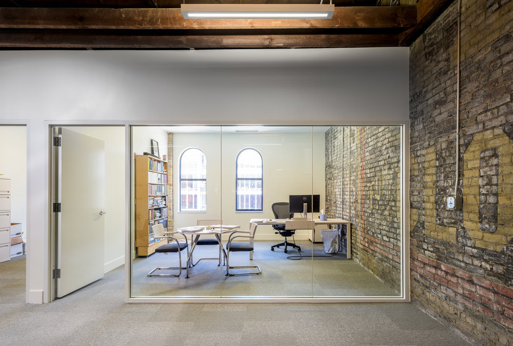Modern office remodel in historic downtown Minneapolis building by Christian Dean Architecture.