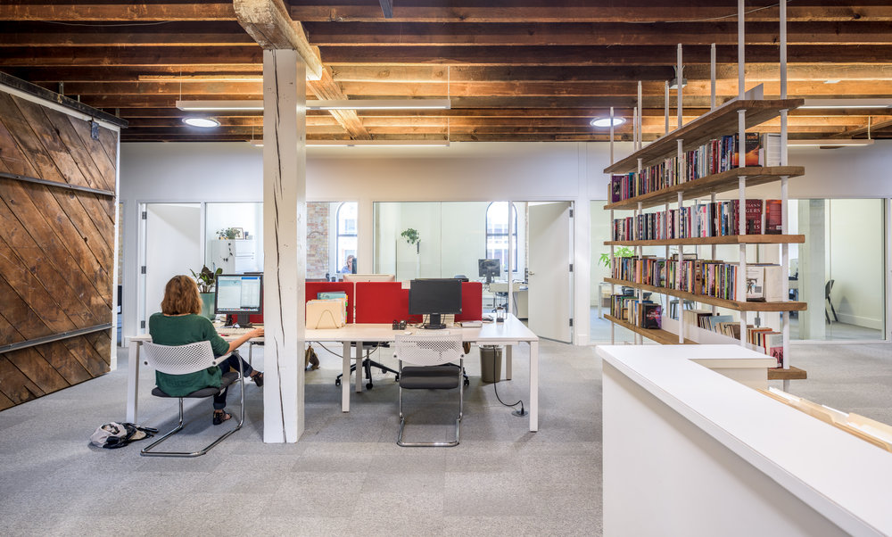 Remodeled historic building for modern offices by Christian Dean Architecture.