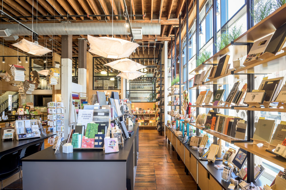 Custom gift shop displays in remodeled downtown Minneapolis space.