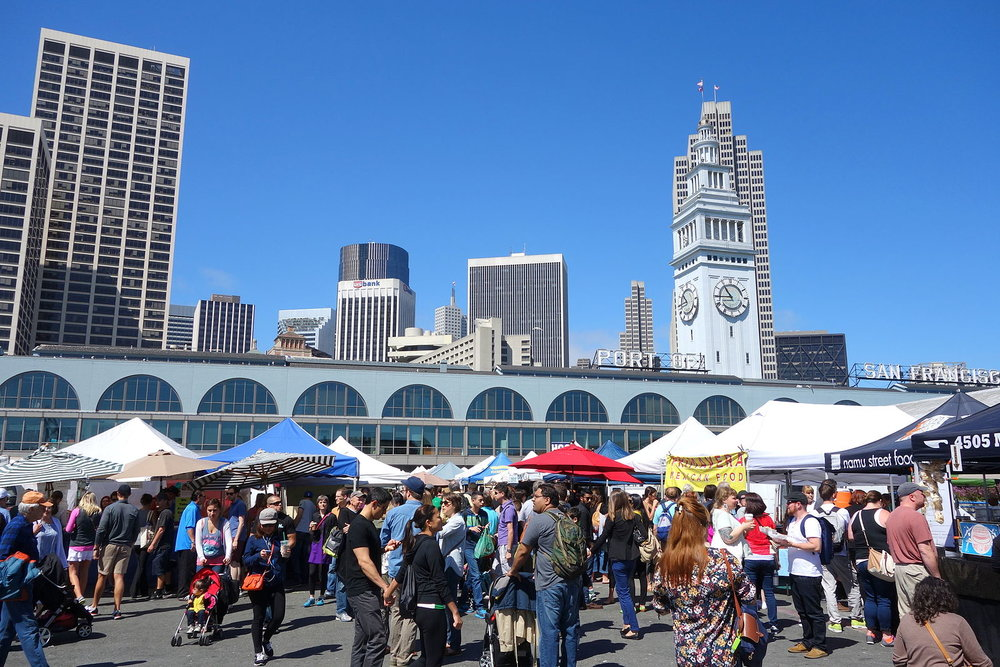 Yes on A - Stronger Seawall - People at Farmer's Market - San Francisco.JPG