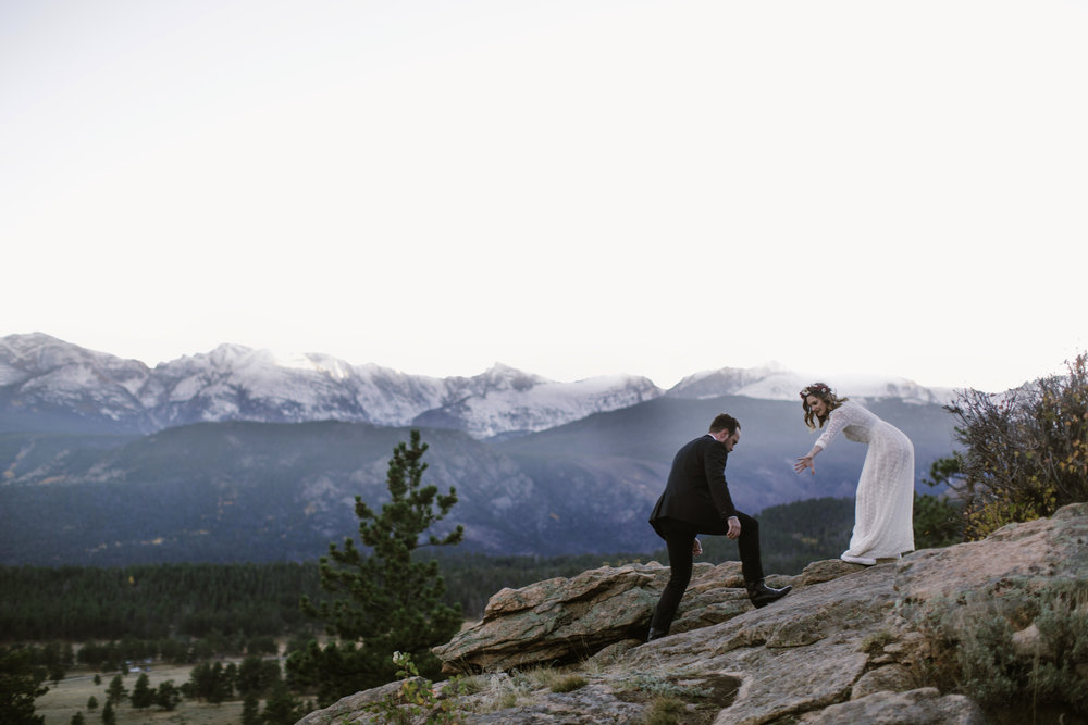 KERI & SCOTT: ELOPEMENT IN ESTES PARK, COLORADO