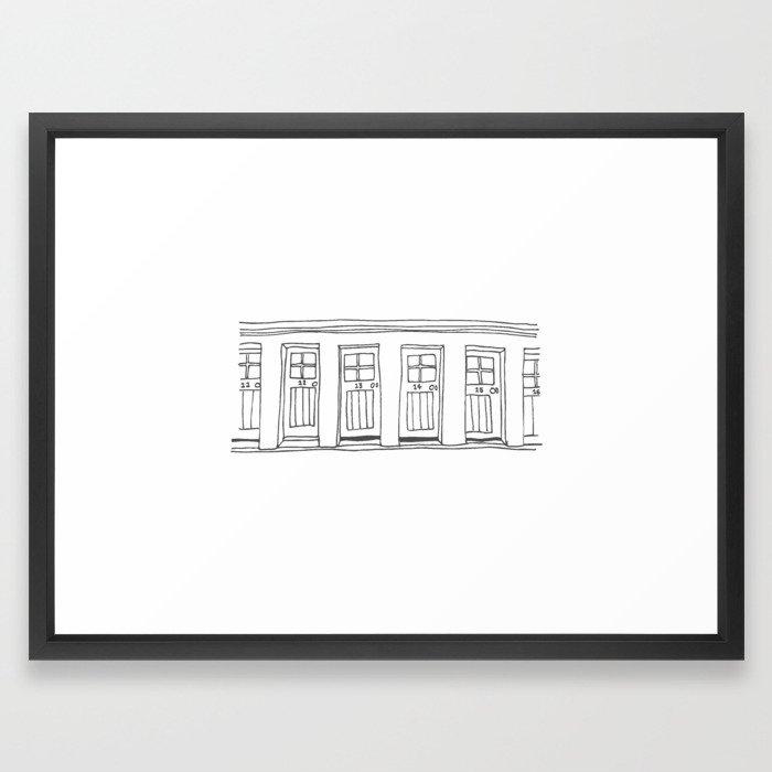 Harbour doors, North Berwick, Scotland Print