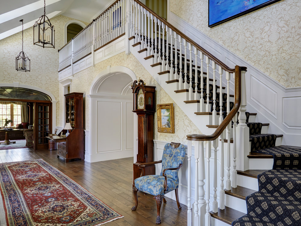 Interior Traditional Staircase & Foyer