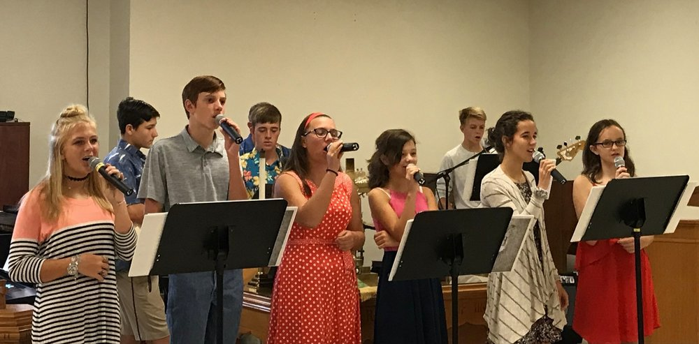 Youth Praise Band on Sunday!