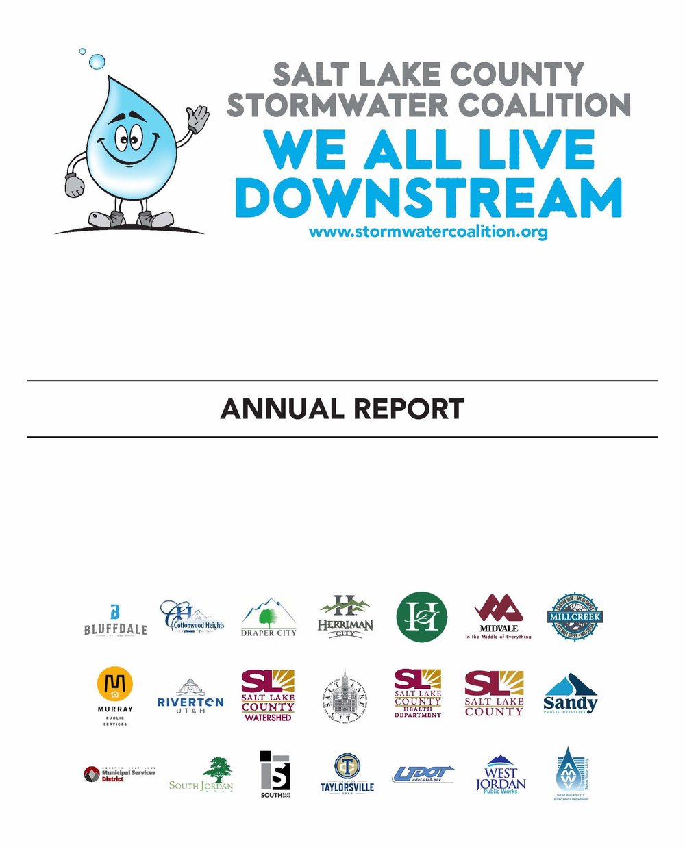 2018 Annual Report Overview - The 2018 Annual report covers the Jordan Valley Municipalities within Salt Lake County and public information and education core program (from July 1, 2017 to June 30, 2018). In the next year and beyond, by implementing these changes, Salt Lake County Stormwater Coalition will improve its strategy to educate a larger portion of the general public over the next year. Through implementation of a Non-Technical Information Programs; Training Programs; Website, Social Media and Management; Guidance Documents, General Public Stormwater – Survey Report; Public Events; Media and Advertisements; Coalition Branding and Product Distribution; and Household Hazardous Waste (HHW) and Illicit Discharge Detection and Elimination (IDDE), Salt Lake County Stormwater Coalition will differentiate themselves and meet the requirements for the UPDES stormwater permit and impact behavior change in Salt Lake County.