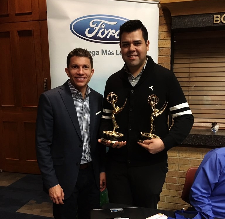 Alvaro Cabal, Ford Latino, with Vladimir Flores, HMI Alumni.