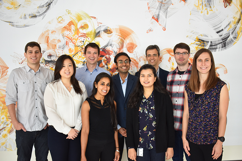 2019 CSP Class (left to right):  Brice Curtin (Koehler Lab), Leslie Chan (Bhatia Lab), Sean Smith (Hammond Lab), Padmini Pillai (Langer Lab), Neelkanth Bardhan (Belcher Lab), Sharanya Sivanand (Vander Heiden Lab, front row), Pau Creixell (Yaffe Lab, back row), Piotr Kowalski (Anderson Lab), and Hannah Watkins (Irvine Lab). Photo taken from CPCM webpage.