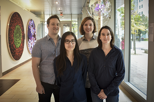 Karches Prize winners (left to right): Peter Westcott, Kim Nguyen, Shelby Doyle, Amanda Whipple. Photo taken from the Koch Institute news page.