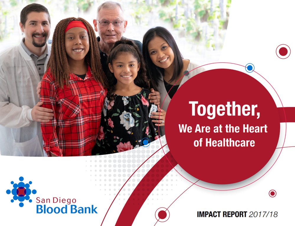 Impact - Philanthropy impacts every aspect of our mission. Our generous financial and blood donors support lifesaving blood services and medical research to advance health and wellness. Click to view our Impact Report.