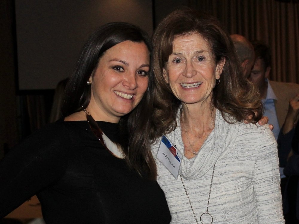 Sherry Serio , Vice President of Development, SDBB and and former SDBB Board Chair,  Holly Heaton