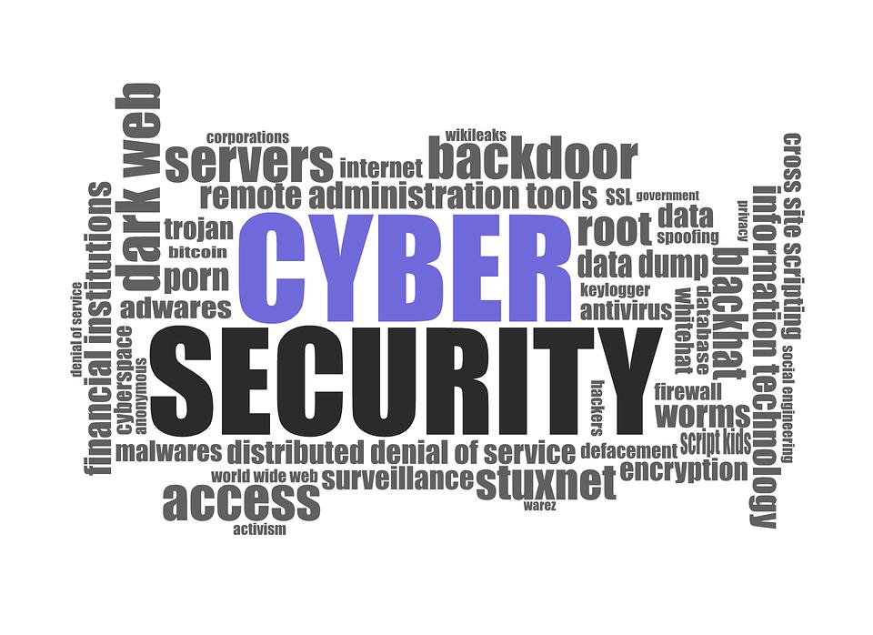Palabras clave que describen los riesgos en el ciberespacio ahora.
