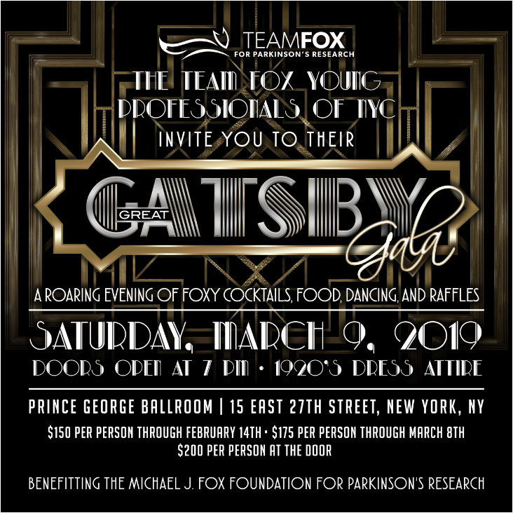 Foxy Gala 2019 - The 5th annual Foxy Gala is approaching quickly and tickets are now on sale! Please join us on Saturday, March 9th from 7pm-11pm at the Prince George Ballroom. This year's theme is Great Gatsby, so be sure to dress in your finest 1920's attire!Tickets include a top-shelf open bar complete with