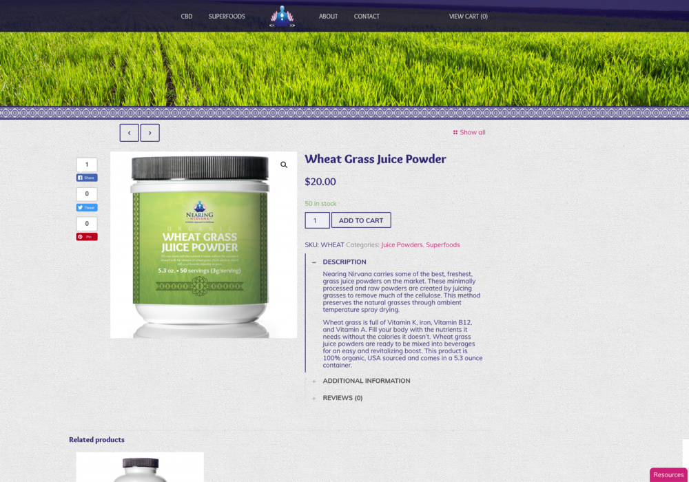 After: Product Pages with comprehensive, clear, and attractive product information
