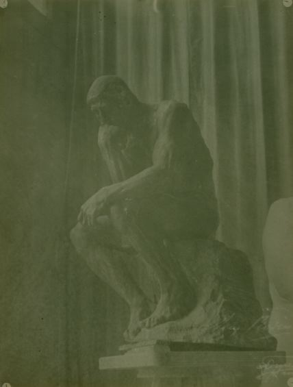 "Study of Rodin's ""The Thinker"", ca. 1896-1900"