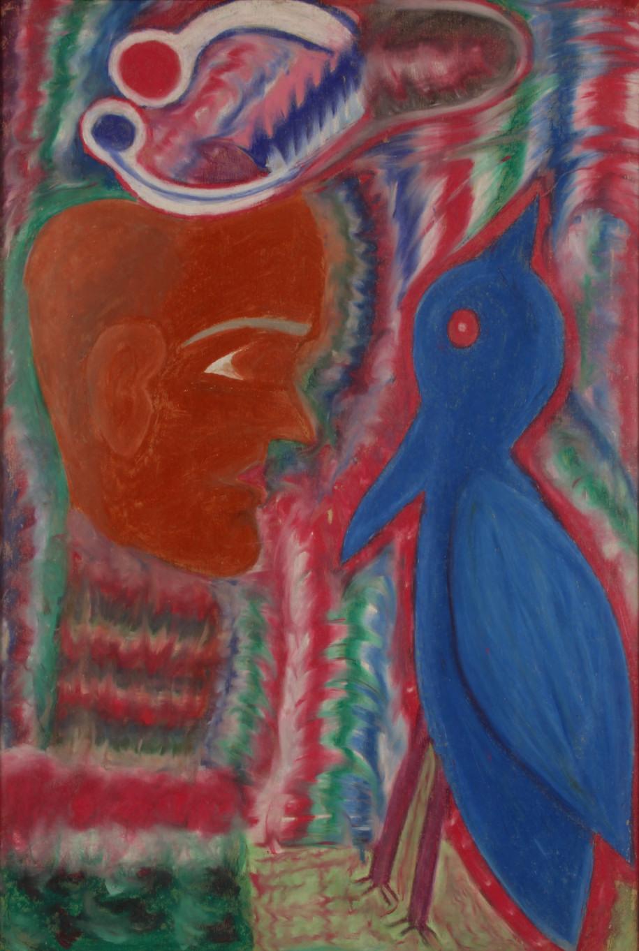 Untitled (Man and Bird), c. 1980