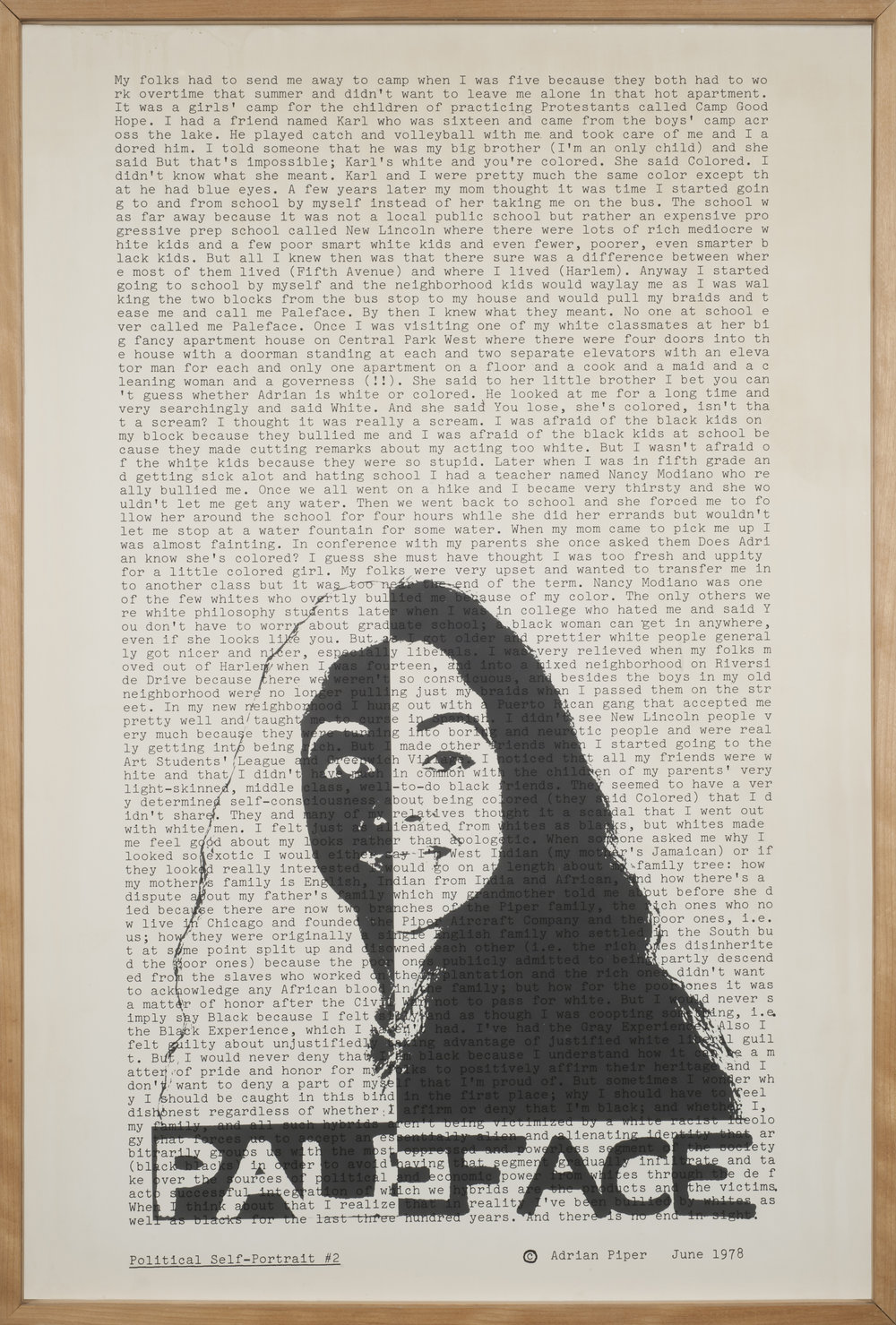 Political Self-Portrait #2 (Race), 1979