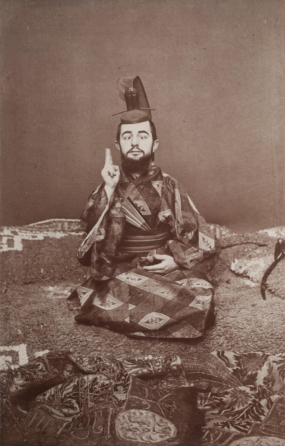 Henri Toulouse-Lautrec in Japanese Samurai Garb, ca. 1892