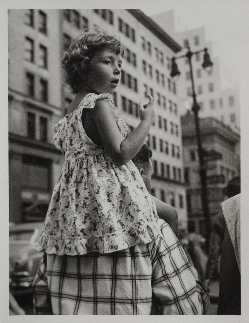 New York (girl on shoulders), 1951-55
