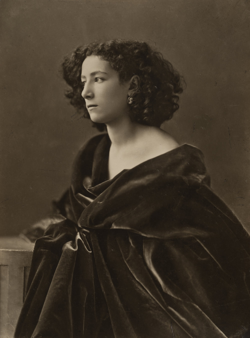 Portrait of Sarah Bernhardt, circa 1866