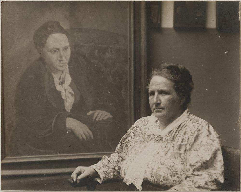 Gertrude Stein & Picasso's Portrait, 1922