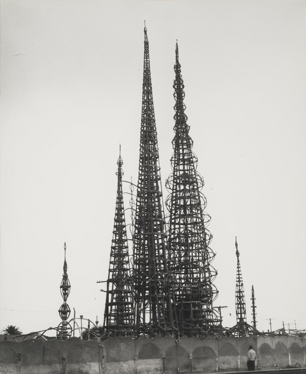 Watts Tower, Los Angeles, 1940s