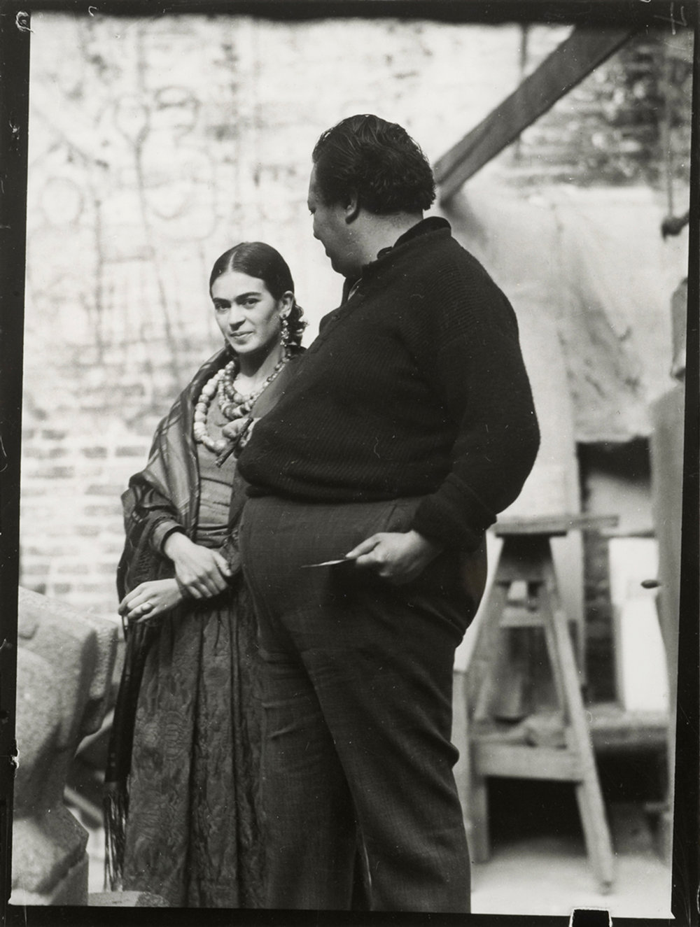 Diego Rivera & Frida Kahlo in San Francisco, c. 1930