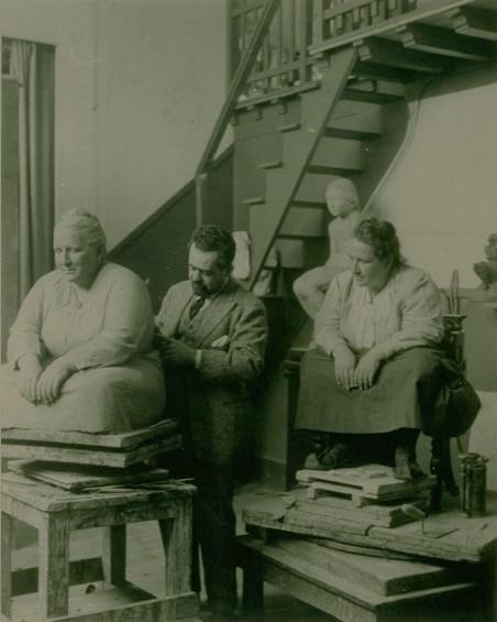 Gertrude Stein Sitting for the Sculptor Jo Davidson, 1922