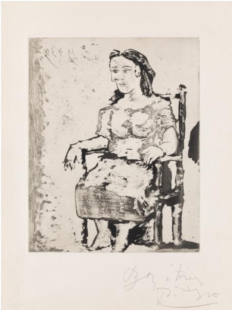 Femme au fauteuil II: Dora Maar