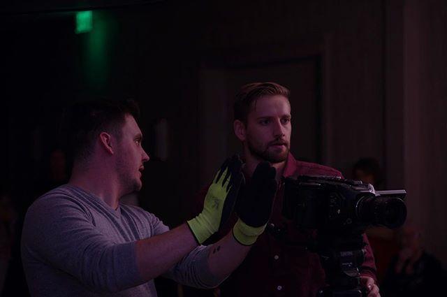 @colejsheldon & @j.rinkfilms conversing on set